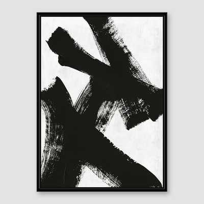 Framed Prints - Abstract Ink Brush Double XX - West Elm