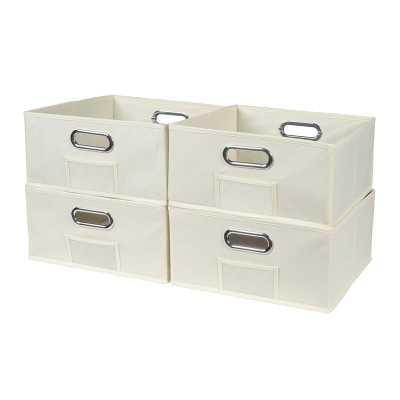 Half-Size Foldable Fabric Storage Bin (Set of 4) - Wayfair