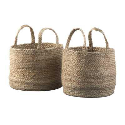 Jute Baskets (set of 2) - Wayfair