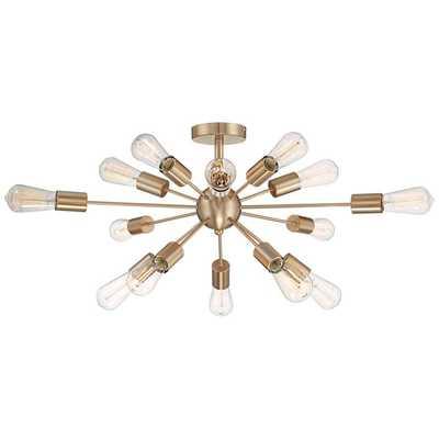 """Possini Euro Hemingson 26""""W Gold 15-Light Led Ceiling Light - Lamps Plus"""