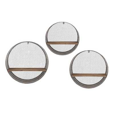 Laurel Round Wall Shelves - Set of 3 - Mercer Collection
