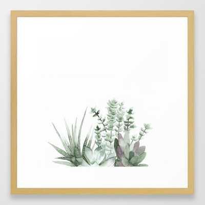 Succulent Framed Art Print - Society6