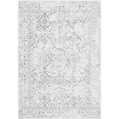 Odell Distressed Persian Ivory 7 ft. x 9 ft. Area Rug - Home Depot