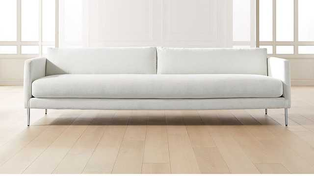MIDTOWN LINEN SLIM SOFA - CB2