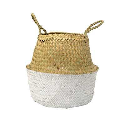 Wicker Basket - Natural/White - AllModern