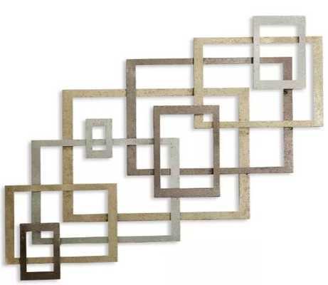 "31.75"" Square Metal Decorative Wall Art Gold - StyleCraft - Target"