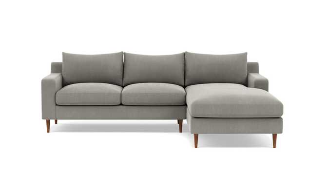 Sloan Right Sectional - Mortar, Deep Chaise - Interior Define