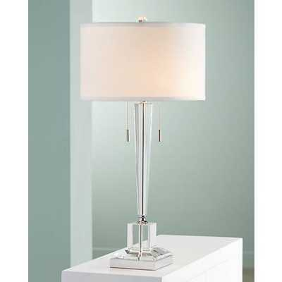 Renee Clear Crystal Glass Table Lamp - Lamps Plus