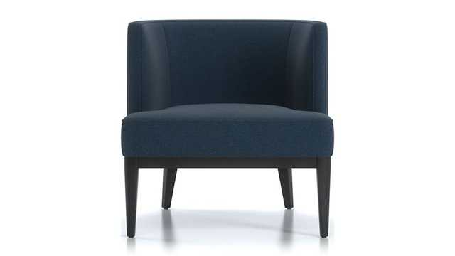 Grayson Chair - Luxe, Dark Blue - Crate and Barrel