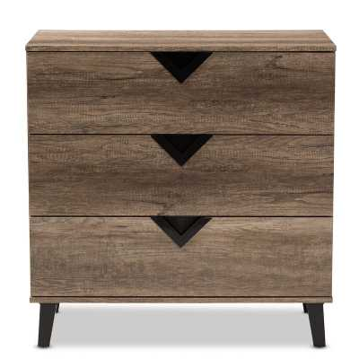 Clevenger Wood 3 Drawers Chest - Wayfair