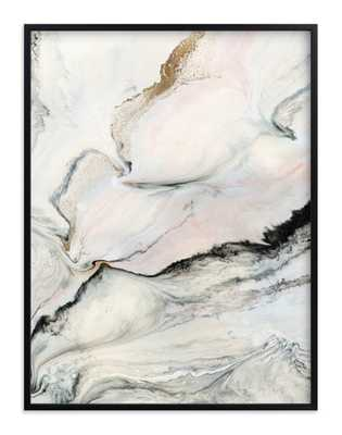 """Beneath the Layers, 30"""" X 40"""" Classic Black Frames-Jade - Minted"""