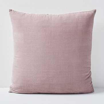 """Lush Velvet Pillow Cover, Dusty Blush /  20""""x20"""" - West Elm"""