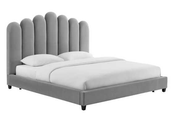 Helen Morgan Velvet Bed in King - Maren Home