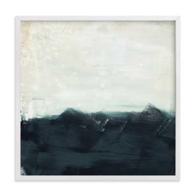 "sitting still  - 24"" x 24"" - white wood frame - Minted"