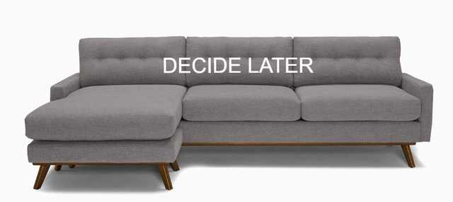 Hopson Reversible Sectional - Decide Later - Mocha - Included - Joybird