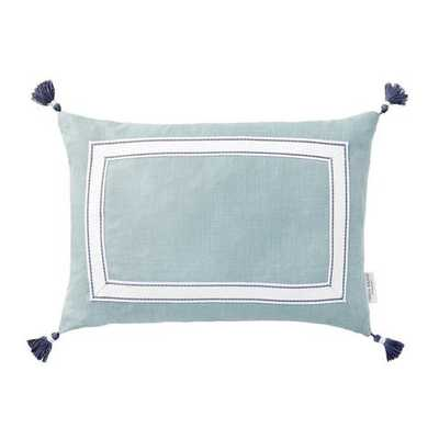 Meadow Ribbon Trim Tassel Pillow - Caitlin Wilson