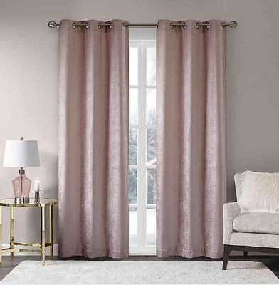 Madison Park Luxe Chenille Grommet Window Curtain Panel Pair - Bed Bath & Beyond