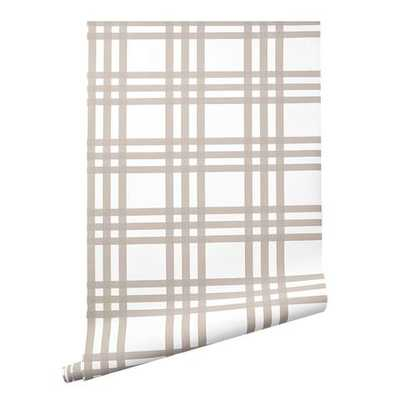 Grande Plaid Wallpaper in Flax - Caitlin Wilson