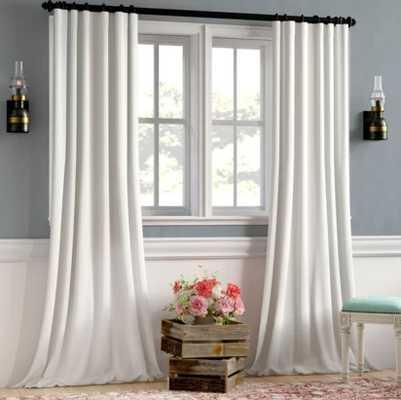 Clem Faux Linen Blackout Single Curtain Panel - AllModern