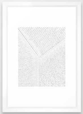 Lines Art Framed Art Print - Society6
