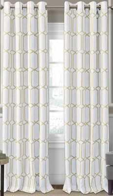 Atwell Geometric Room Darkening Thermal Grommet Single Curtain Panel - Wayfair