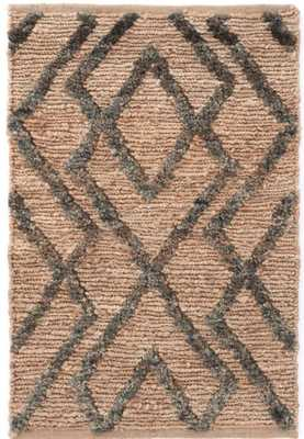 MARCO JUTE SOUMAK WOVEN RUG - 3' by 5' JUNIPER - Dash and Albert