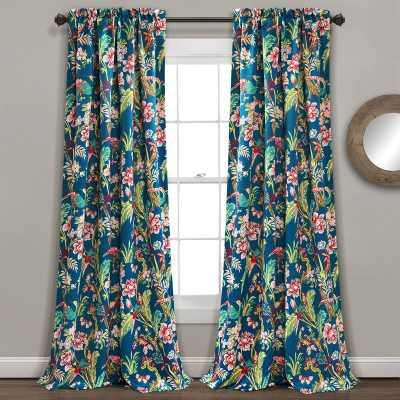 Panagia Floral Room Darkening Thermal Rod Pocket Curtain Panels Set of 2 - Birch Lane