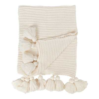 Dorcheer Chunky Ribbed Knit Throw Blanket - White - Wayfair