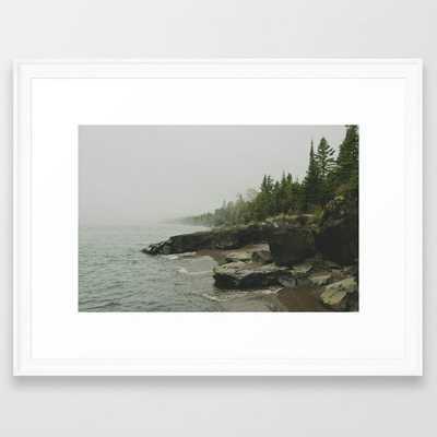 Lake Superior. Lutsen, MN Framed Art Print - Society6