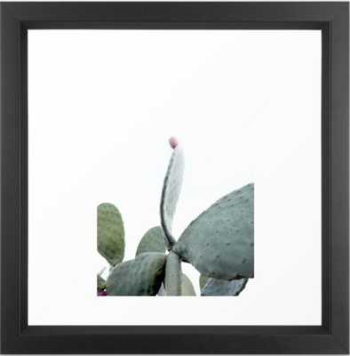 Mint Green Cactus Framed Art Print - Society6