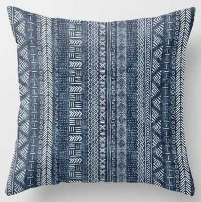 Mud Cloth Stripe Throw Pillow - Society6
