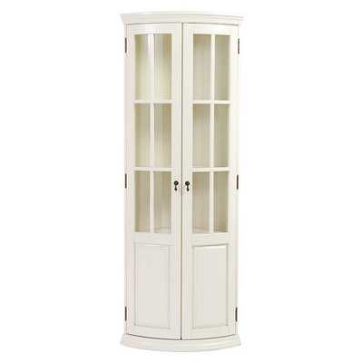 Chilton Glass Door Corner Cabinet - Ballard Designs