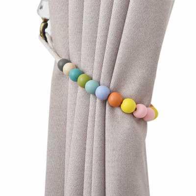 Dametta Macaron Wooden Bead Curtain Tieback - set of 2 - Wayfair