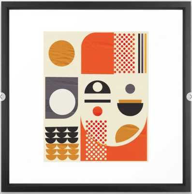 Mid-century no1 Framed Art Print - Society6