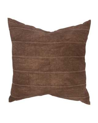 """ABNER PILLOW WITH DOWN INSERT - CHOCOLATE - 22"""" x 22"""" - McGee & Co."""