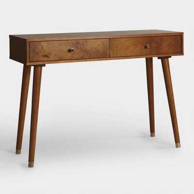 Light Walnut Wood Caleb Console Table: Brown by World Market - World Market/Cost Plus