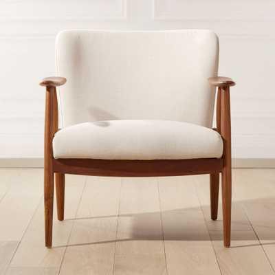 Troubadour Natural Wood Frame Chair - CB2