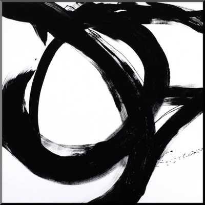 """Circular Strokes I, 24""""x24"""", Wood Mount - art.com"""