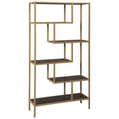 "Galan 70.25"" H x 36"" W Metal Etagere Bookcase - Wayfair"