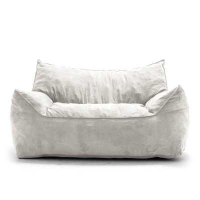 Greyleigh™ Extra Large Bean Bag Sofa in Cement - Wayfair