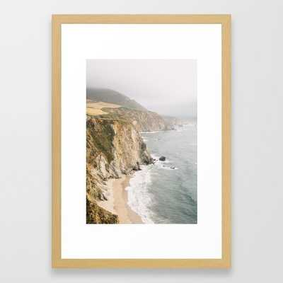 "Big Sur California Framed Art Print - Conservation Natural 15""x21"" - Society6"