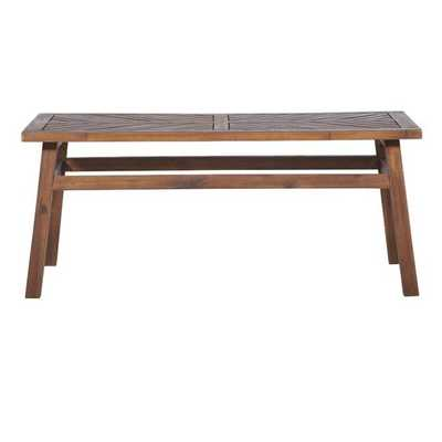 Slattery  Solid Wood Coffee Table - Dark Brown - Wayfair
