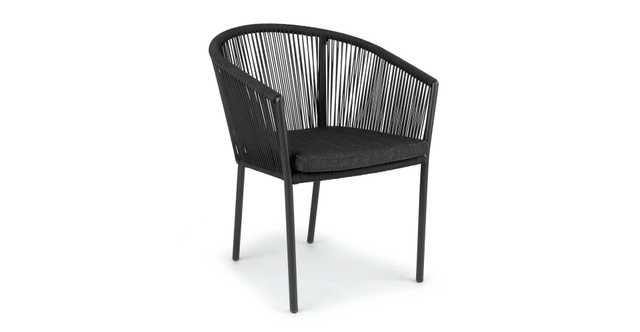 Corda Outdoor Dining Chair - black - Article