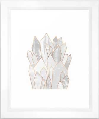 White Crystals Framed Art Print - Society6