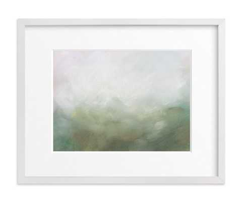 """Morning Mist - 14"""" x 11"""" - White Wood Frame - Mattted - Minted"""