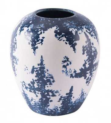 Nube Sm Vase Blue & White - Zuri Studios