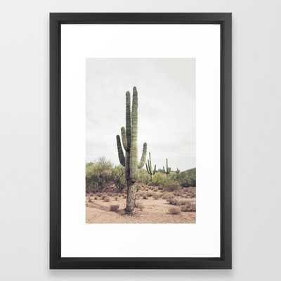 Desert Cactus Framed Art Print - 15x21 - Society6