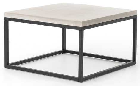 APHRA INDOOR/OUTDOOR SQUARE COFFEE TABLE, GRAY - Lulu and Georgia
