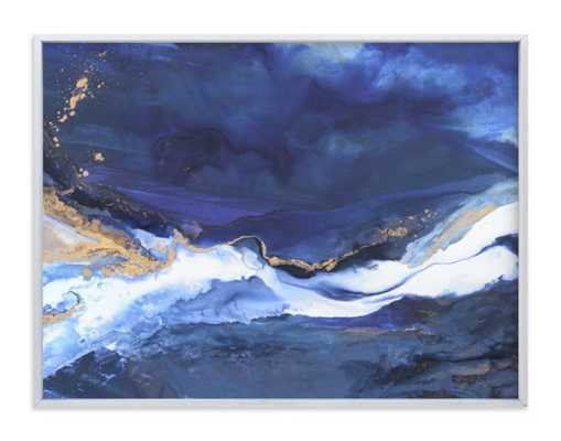 "Odyssey Framed Art Print -40"" x 30"", white wood fame - Minted"