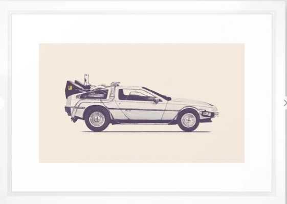 Famous Car #2 - Delorean Framed Art Print 15x21 - Society6
